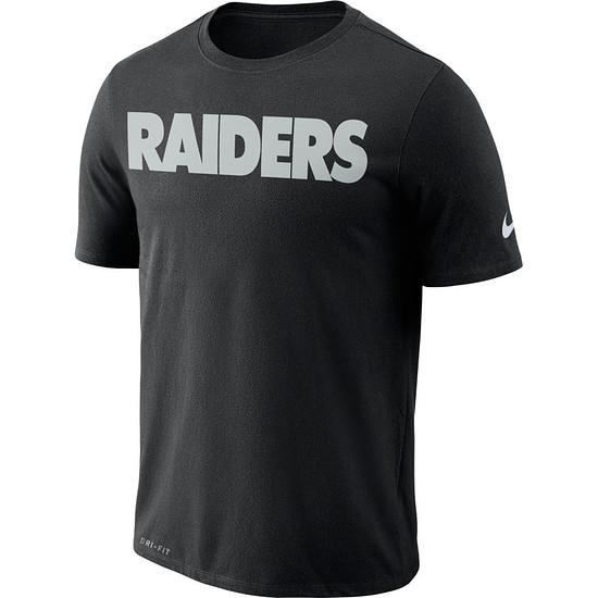 Nike Oakland Raiders NFL Team T-Shirt Schwarz