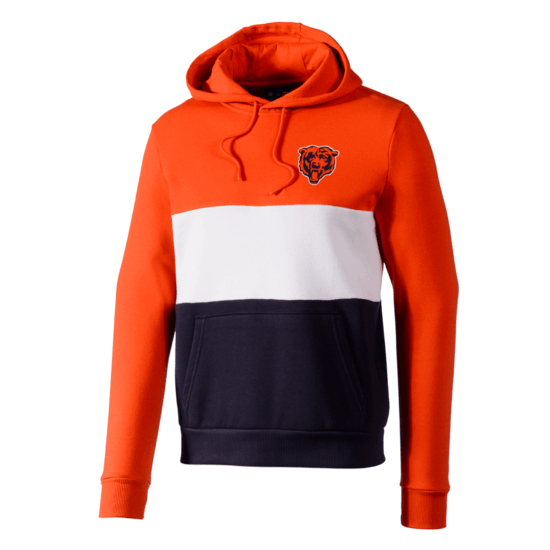 New Era Chicago Bears Hoodie Colourblock orange/weiß/blau