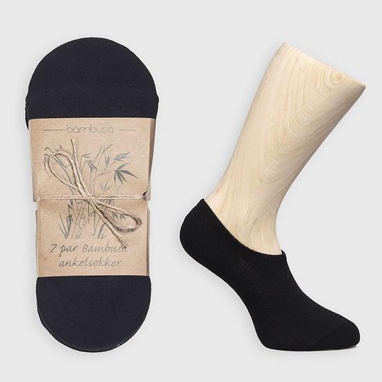 Bambusa Sneakersocken - 7 Paar Schwarz