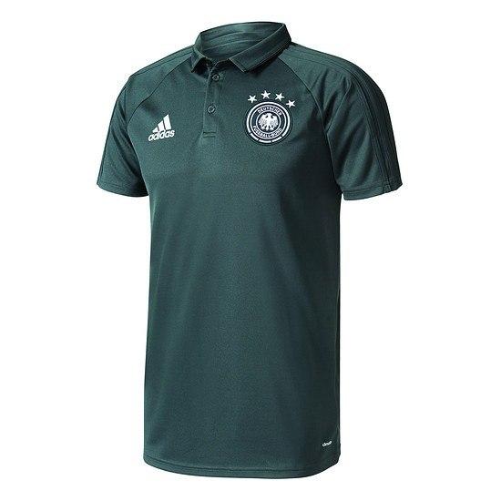 Adidas DFB Deutschland Polo-Shirt Staff Grau