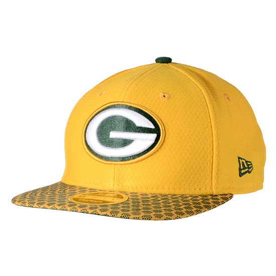 New Era Green Bay Packers Cap Sideline 9FIFTYOF Dots gelb