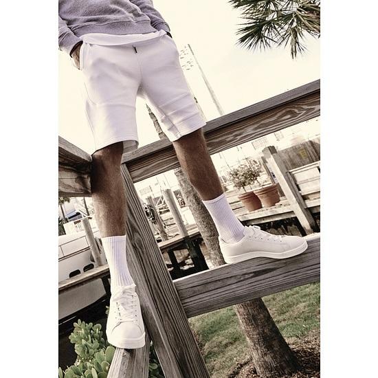 URBAN CLASSICS Shorts Heavy Pique weiß