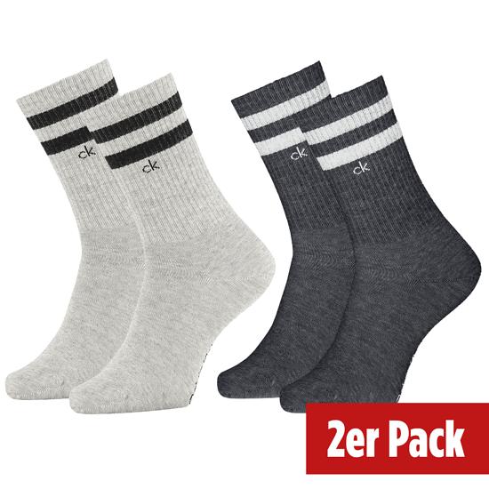 Calvin Klein Socken 2er Pack CREW MAURICE Grau Combo