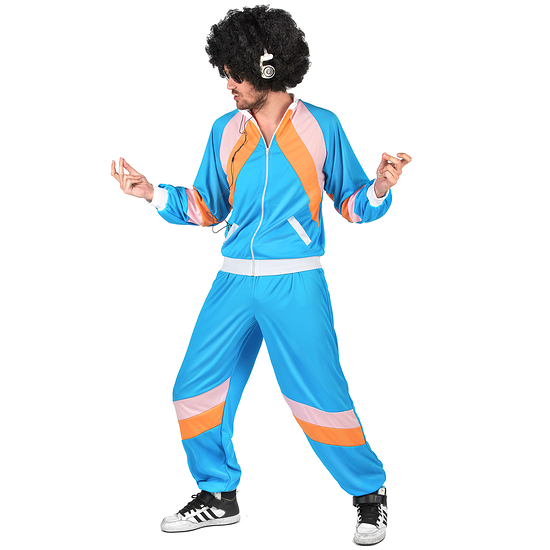 Karnevals- Kostüm Retro Jogger blau