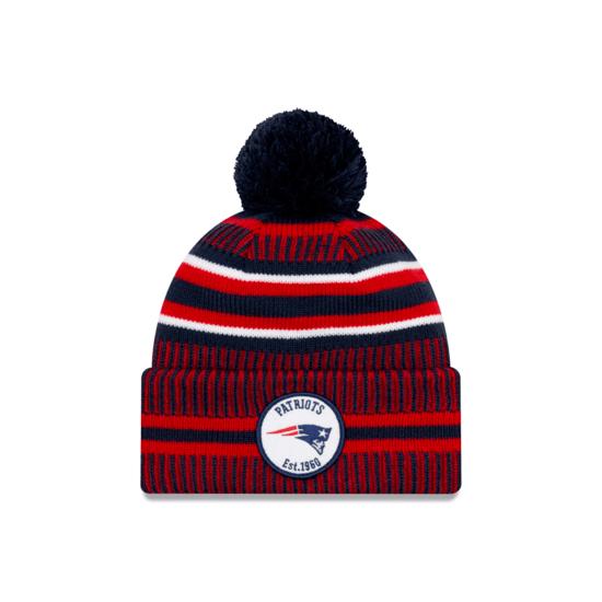 New Era New England Patriots Beanie On Field Sport Knit HM blau