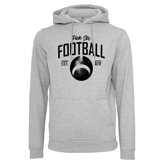 PICK SIX Hoodie FOOTBALL CLASSIC Grau