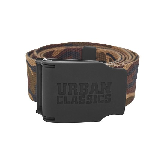 URBAN CLASSICS Gürtel Woven Rubbered Touch wood camo