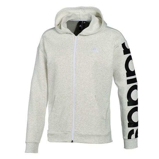 Adidas Kapuzenjacke Big Logo Fleece grau