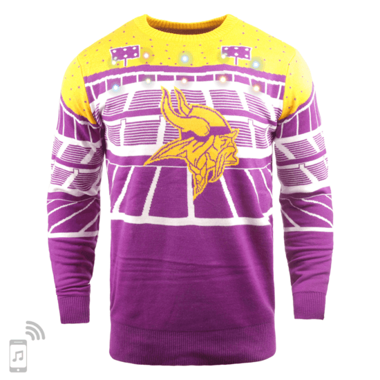 Forever Collectibles Minnesota Vikings Ugly Sweater Bluetooth lila/gelb