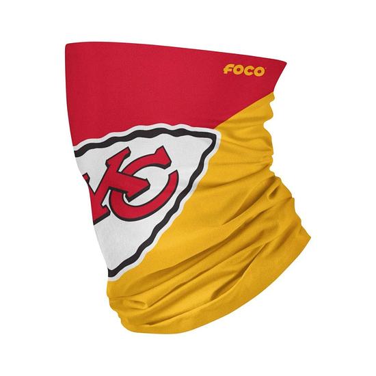 Forever Collectibles Kansas City Chiefs Gaiter Halstuch Maske Big Logo rot/gelb