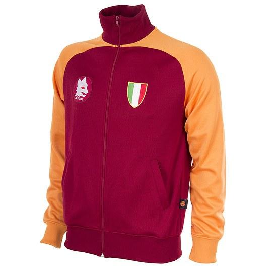 Copa AS Rom 1983 Scudetto Retro Trainingsjacke rot/orange