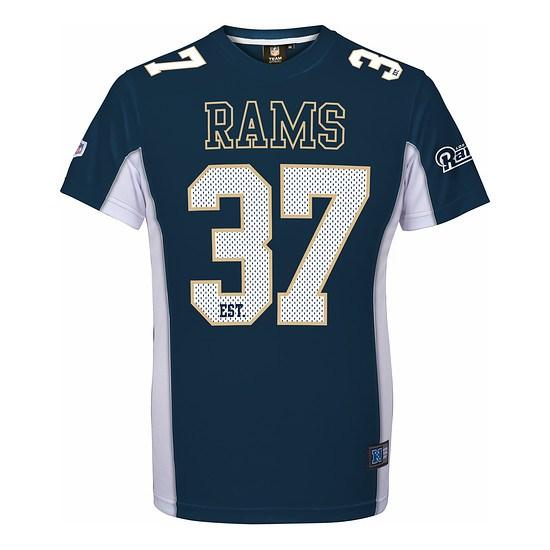 Majestic Athletic Los Angeles Rams T-Shirt Moro Poly Mesh blau
