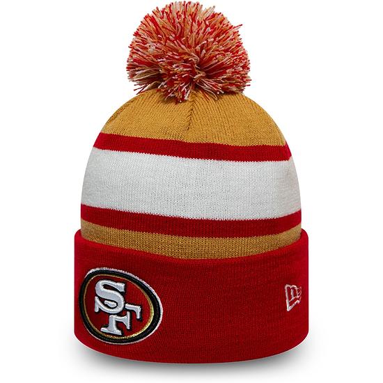 New Era San Francisco 49ers Beanie Striped Cuff Knit rot
