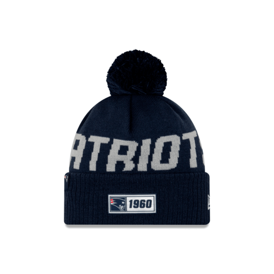 New Era New England Patriots Beanie On Field Sport Knit RD blau