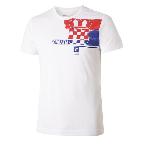 Lotto Kroatien T-Shirt Logo weiß