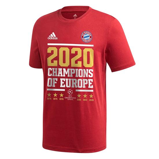 Adidas FC Bayern München T-Shirt CL Sieger 2020 Kinder Rot