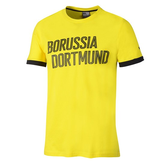 Puma Borussia Dortmund T-Shirt Schriftzug Dortmund Gelb