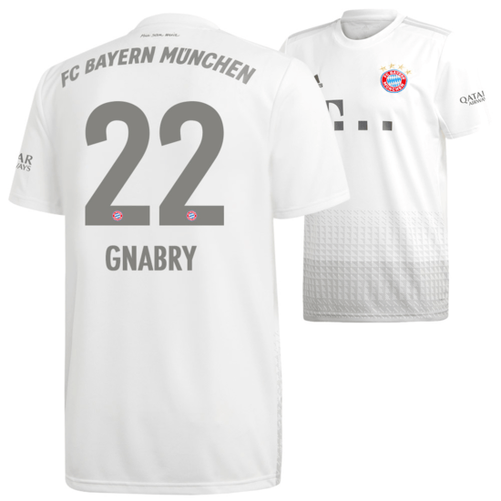 Adidas FC Bayern München Auswärts Trikot GNABRY 2019/2020 Kinder