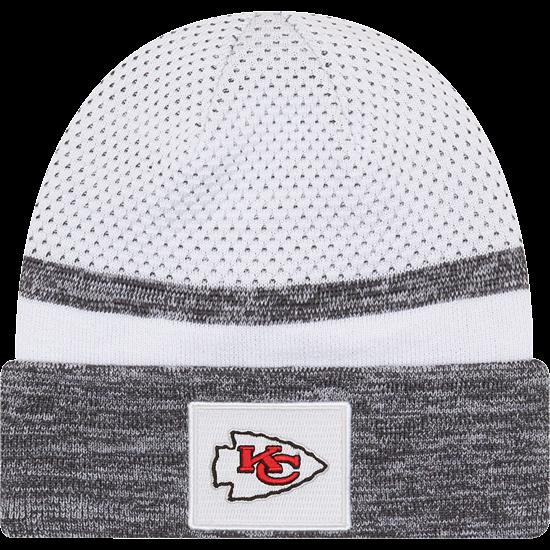 New Era Kansas City Chiefs Beanie Super Bowl 55 Sideline weiß