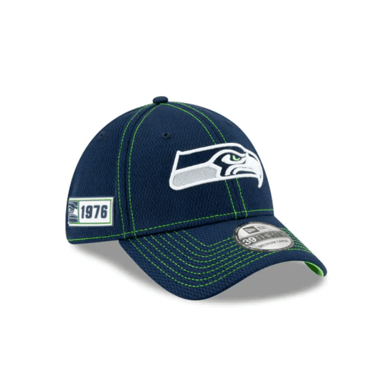 New Era Seattle Seahawks Cap On Field 39THIRTY blau