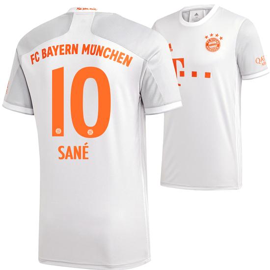 Adidas FC Bayern München Auswärts Trikot SANÈ 2020/2021 Kinder
