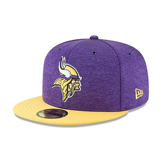 New Era Minnesota Vikings Cap 59FIFTY Sideline Home lila/gelb