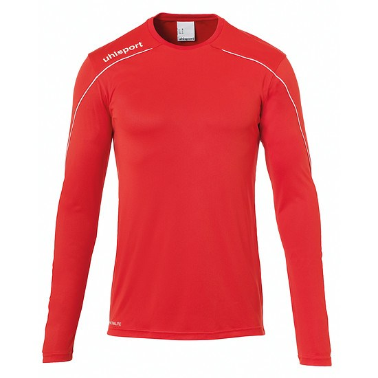 uhlsport Trainingsshirt Langarm Stream 22 rot/weiß