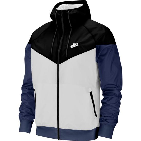 Nike Kapuzenjacke Windrunner Weiß/Schwarz/Blau