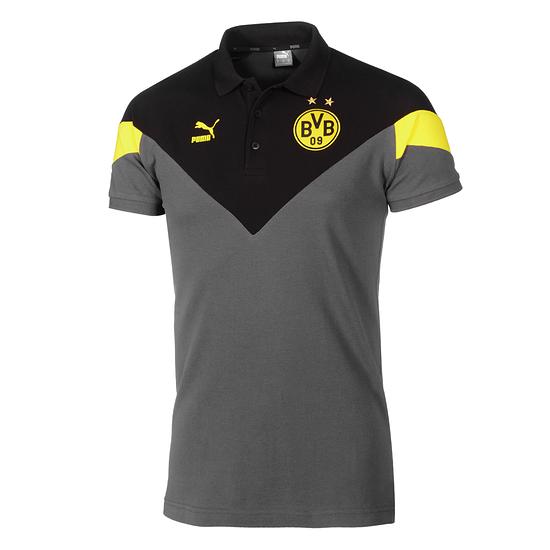 Puma Borussia Dortmund Poloshirt MCS Grau