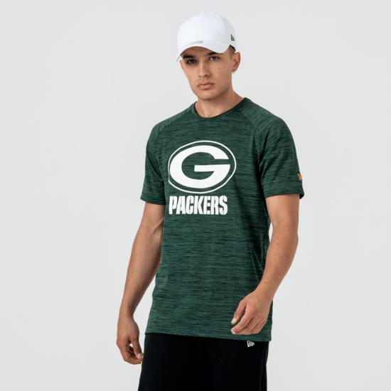New Era Green Bay Packers T-Shirt Engineered Raglan grün