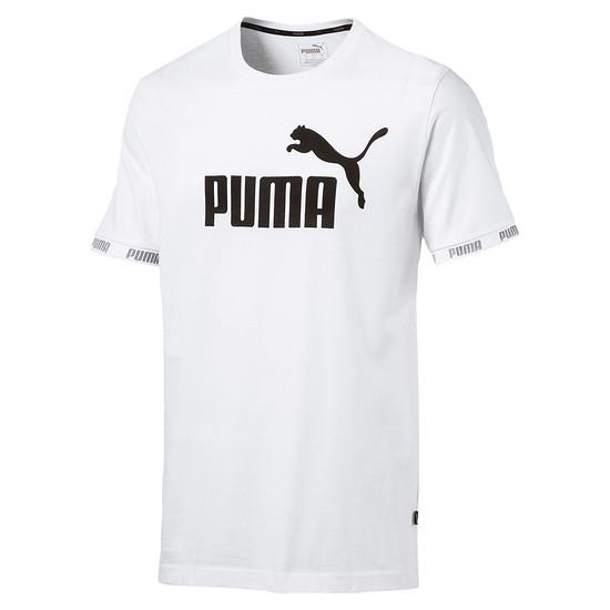 Puma T-Shirt Amplified Big Logo Weiß