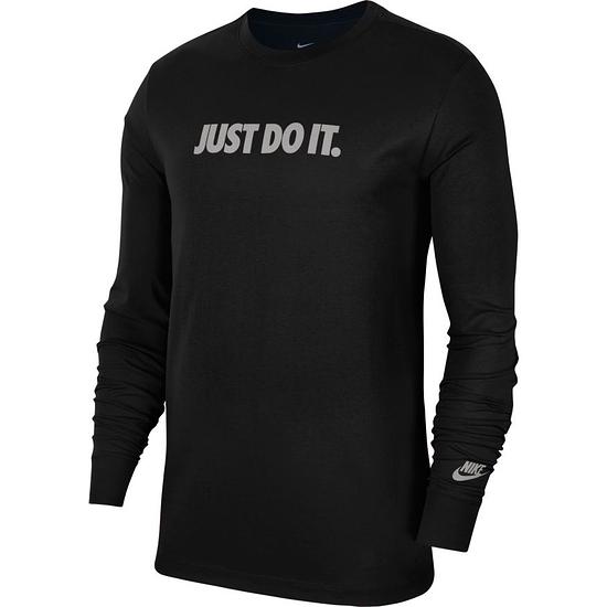 Nike Langarm Shirt JUST DO IT. Schwarz