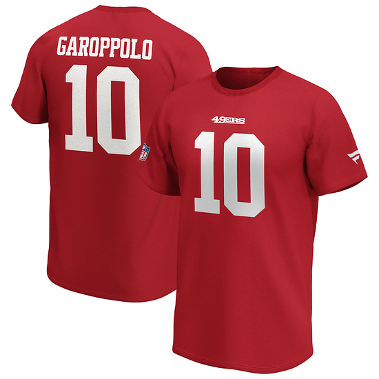 Fanatics San Francisco 49ers T-Shirt Iconic N&N Garoppolo No 10 rot