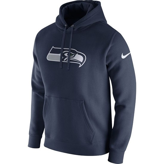 Nike Seattle Seahawks NFL Club Hoodie Blau