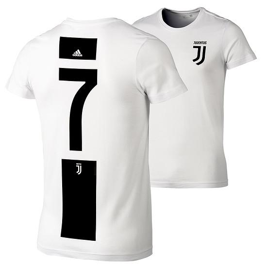 Adidas Juventus Turin T-Shirt 7 (Ronaldo) Logo