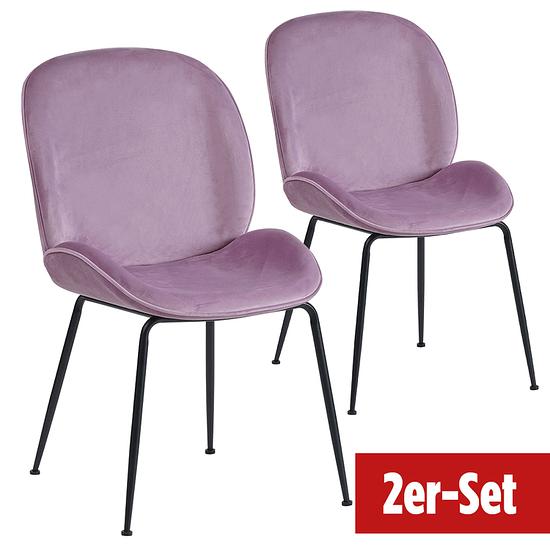 BREAZZ Stuhl Ladybug Velvet 2er Set pink