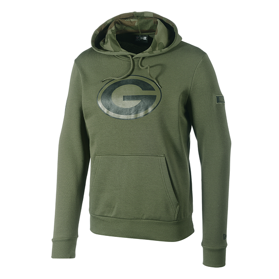 New Era Green Bay Packers Hoodie Large Print Camo olivoliv