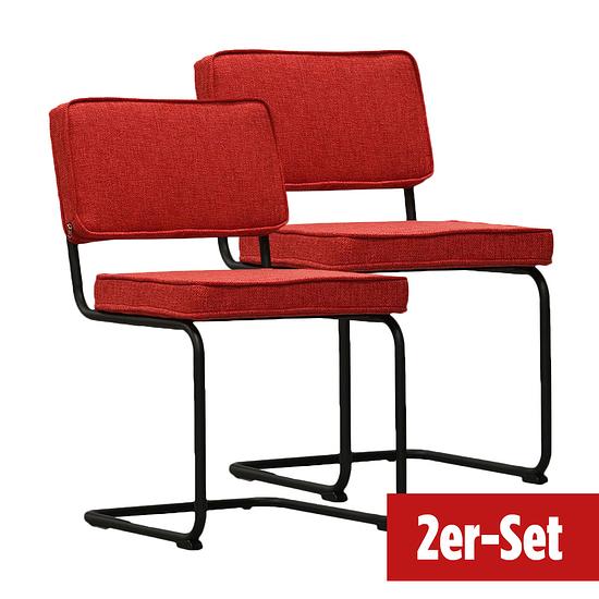 BREAZZ Stuhl Rib Industrial 2er Set rot