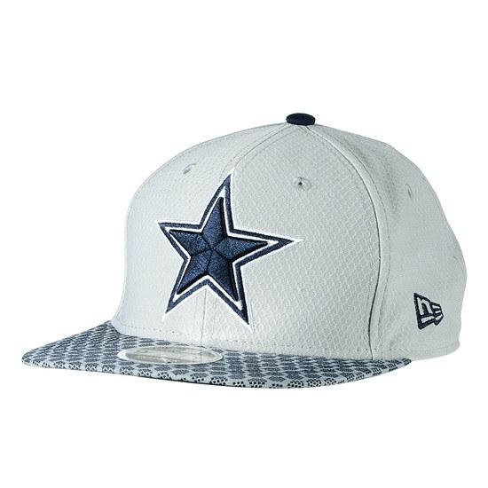 New Era Dallas Cowboys Cap Sideline 9FIFTYOF Dots grau