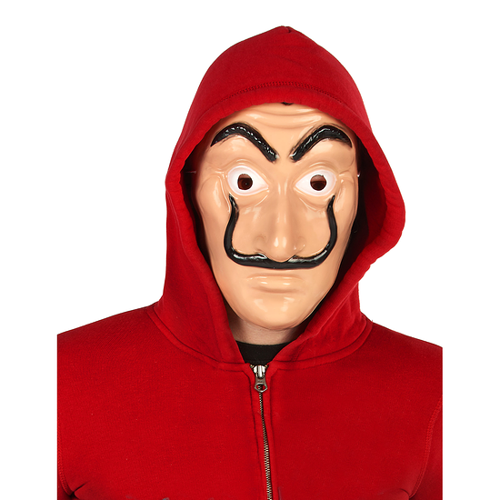 Karnevals- Maske Räuber Bankräuber hautfarben