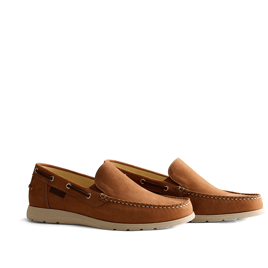 TRAVELIN OUTDOOR Slipper Seatown cognac