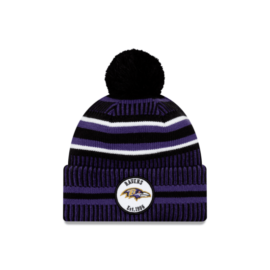 New Era Baltimore Ravens Beanie On Field Sport Knit HM lila
