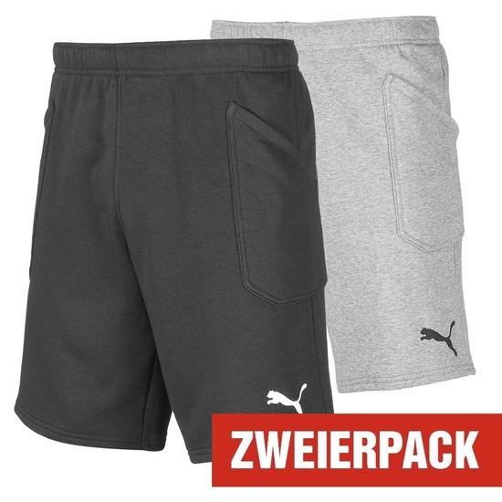 Puma Shorts LIGA Set 2er Pack Schwarz/Grau