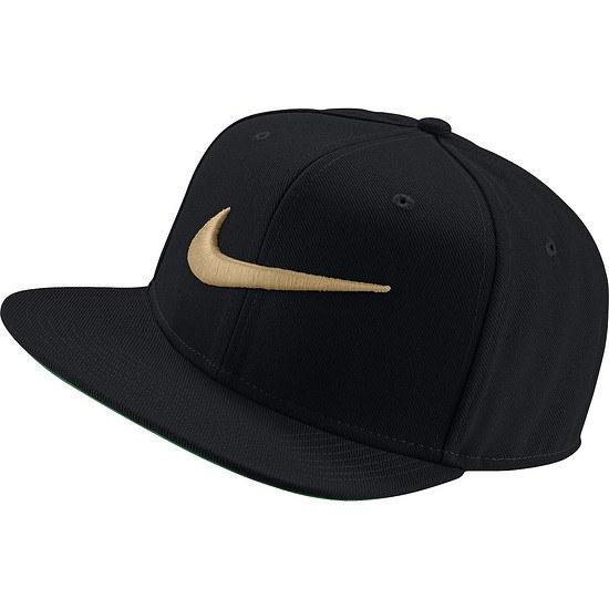 Nike Cap Swoosh Pro Schwarz/Grün/Gold