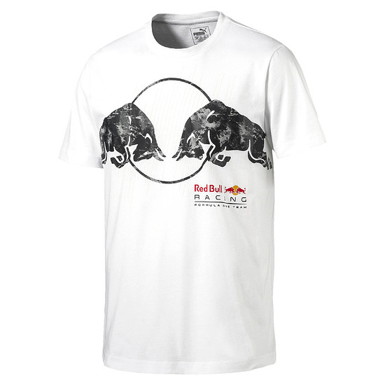 Puma Red Bull Racing T-Shirt Bullen Weiß