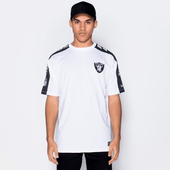 New Era Las Vegas Raiders T-Shirt Oversized Shoulder Print weiß