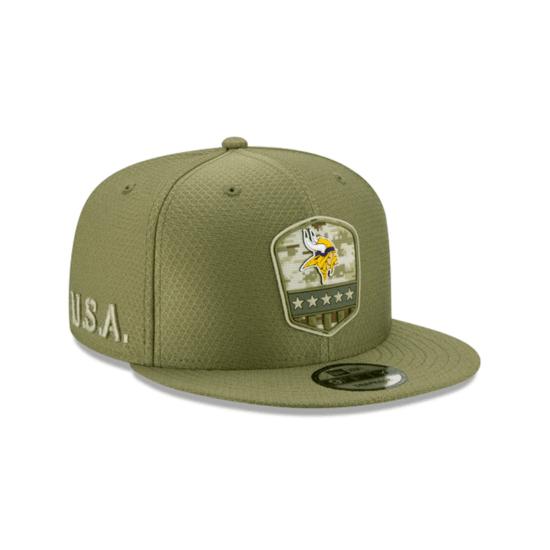 New Era Minnesota Vikings Cap Salute To Service 9FIFTY oliv