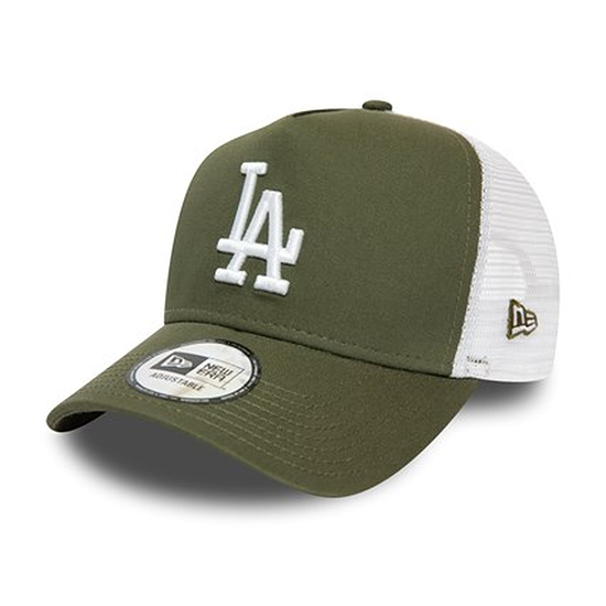 New Era Los Angeles Dodgers Cap Essential Trucker oliv/weiß