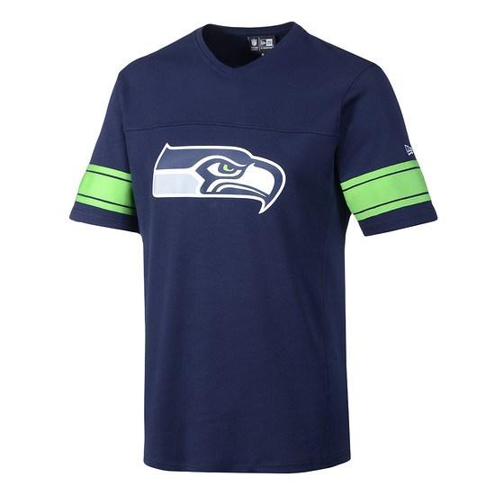New Era Seattle Seahawks T-Shirt V-Neck oceansideblue