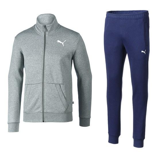 Puma Trainingsanzug Style Good Grau/Blau